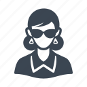 avatar, businesswoman, spy, sunglasses icon