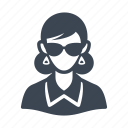 avatar, businesswoman, glasses, user, woman icon
