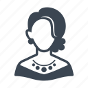 avatar, elegant woman, user, woman icon
