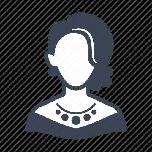avatar, elegant woman, female, user, woman icon
