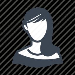 avatar, elegant, user, woman icon