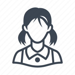 avatar, girl, student, teenager icon