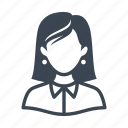 avatar, teacher, user, woman icon