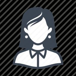 avatar, female, teacher, user, woman icon