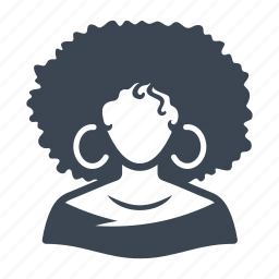 afro woman, afro-american, avatar, user icon