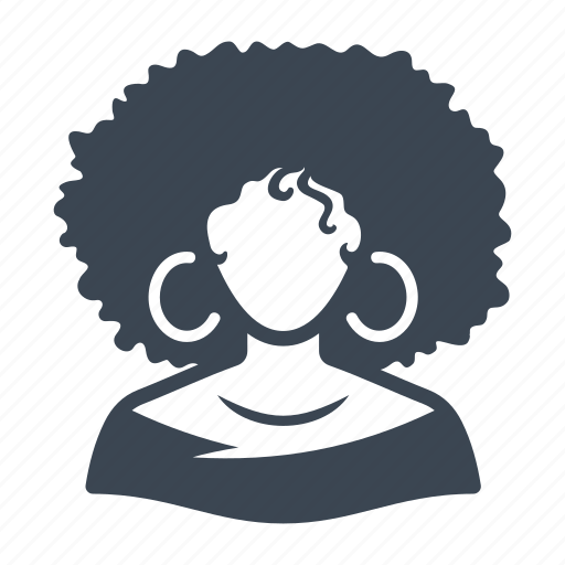 afro woman, afro-american, avatar, user, woman icon