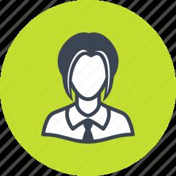 avatar, student, woman icon
