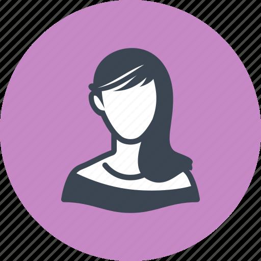 avatar, elegant, woman icon