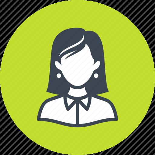 avatar, businesswoman, teacher, woman icon