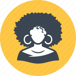 afro american, avatar, woman icon