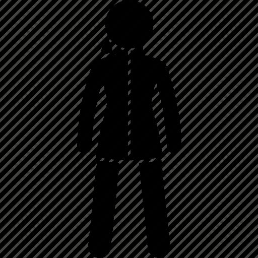 Clothing, coat, fabric, fleece, jacket, women, wool icon - Download on Iconfinder