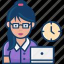 secretary, women, job, avatar