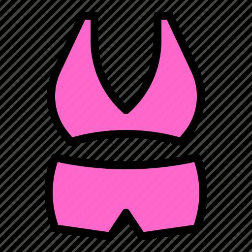 bra, clothes, swimwear, undergarment, underwear icon