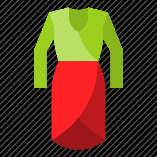 clothes, clothing, dress, fashion, garment, woman icon