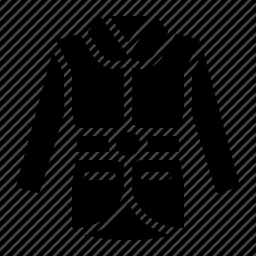 clothes, clothing, coat, fashion, garment, long sleeve icon