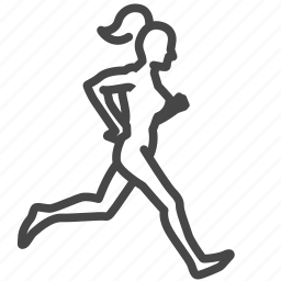 exercise, female, jogging, run, training, woman, workout icon