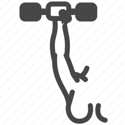 dumbbell, exercise, female, gym, weight training, woman, workout icon