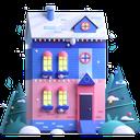 house, christmas, winter