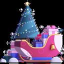 sleigh, presents, gifts, christmas icon