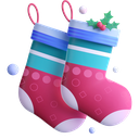 socks, winter, christmas icon
