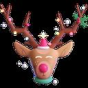 deer, christmas, santa's helper, rudolph, reindeer icon