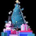christmas, christmas tree, gifts, presents, holidays icon