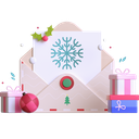 letter, postcard, gift card, voucher, christmas, present, gift icon