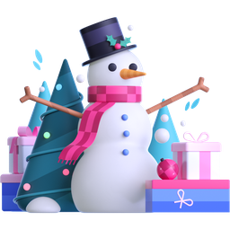 snowman, gifts, presents