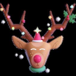 deer, christmas, santa's helper, rudolph, reindeer