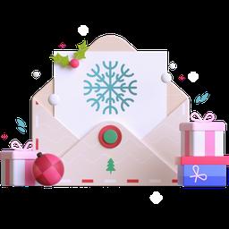 letter, postcard, gift card, voucher, christmas, present, gift