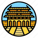 china, forbidden city, palace, wonder of the world icon
