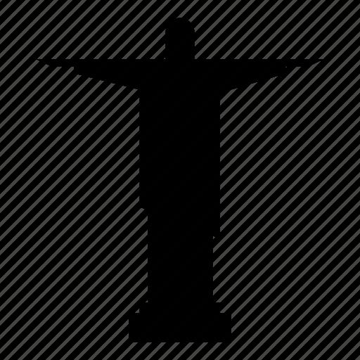 art deco statue, christ the redeemer, jesus christ, rio de janeiro brazil icon