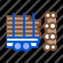 industry, logging, material, storaging, transportation, tree, truck icon