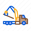 loading, machine, material, storaging, timber, transportation, wood icon