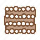 heap, material, storaging, timber, transportation, tree, trunk icon