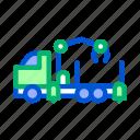 lumberjack, manipulator, material, storaging, timber, transportation, truck icon