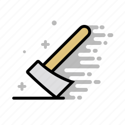 axe, hatchet, tools, wood, wood cutter icon