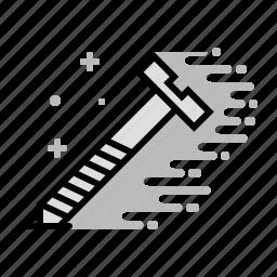 construction, screw, tools, wood, wood screw icon