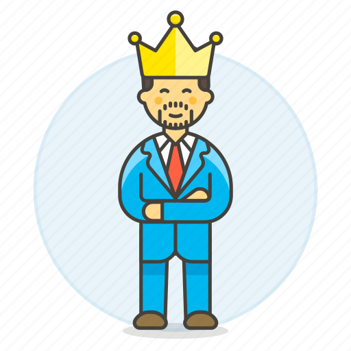 boss, ceo, company, crown, hiring, human, leader, male, manager, president, resources, work icon
