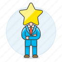 boss, ceo, head, hiring, human, leader, male, manager, resources, star, work icon