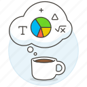 brainstorming, coffee, idea, ideas, logic, math, statistic, work icon