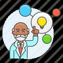 bulb, connect, creative, creativity, idea, light, male, plan, solution, thinking, work icon