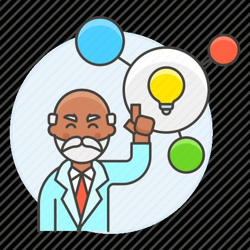 1, bulb, connect, creative, creativity, idea, light, male, plan, solution, thinking, work icon