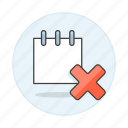 delete, mini, not, note, notebook, notepad, paper, remove, sheet, synced, work icon