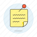 it, note, pin, post, reminder, scribble, work icon
