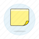blank, it, note, paper, post, sheet, work icon