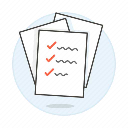 checklist, checkmark, complete, do, document, list, pile, task, things, to, work icon