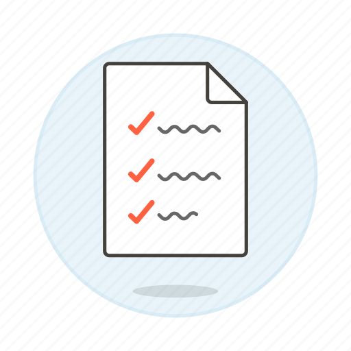 checklist, checkmark, complete, do, document, list, task, things, to, work icon
