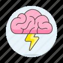 activity, brain, brainstorm, brainstorming, creativity, flash, idea, thunder, work icon