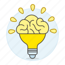 activity, brain, bulb, ideas, light, lightbulb, work icon